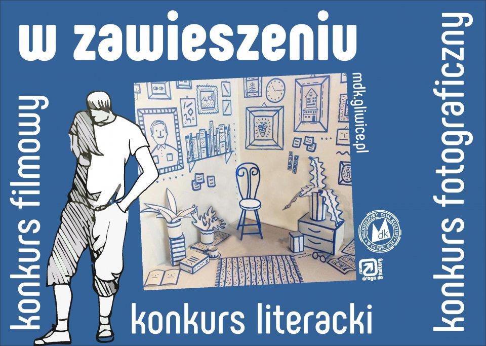 banner graficzny z chłopcem w domu i tekstem (w treści informacji)