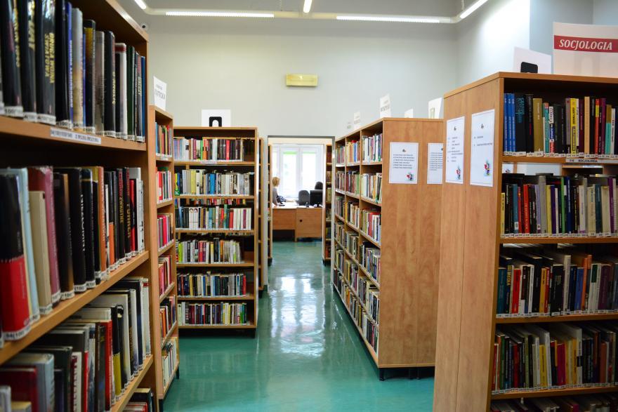 półki biblitoteczne