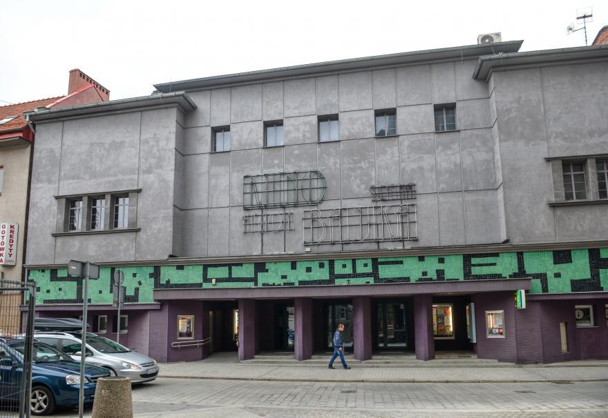 kino Amok widziane z ulicy Dolnych Wałów