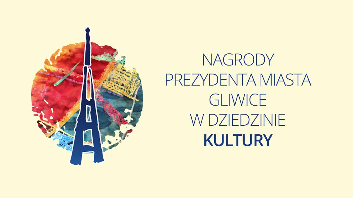 banner - symbol Radiostacji i napis Nagrody Prezydenta Miasta Gliwice w dziedzinie kultury