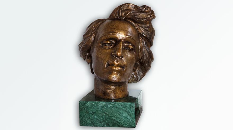 odlew głowy Chopina
